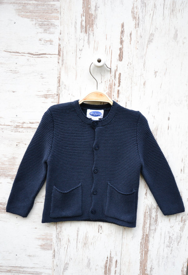 Baumwoll Strickjacke Marineblau Junior