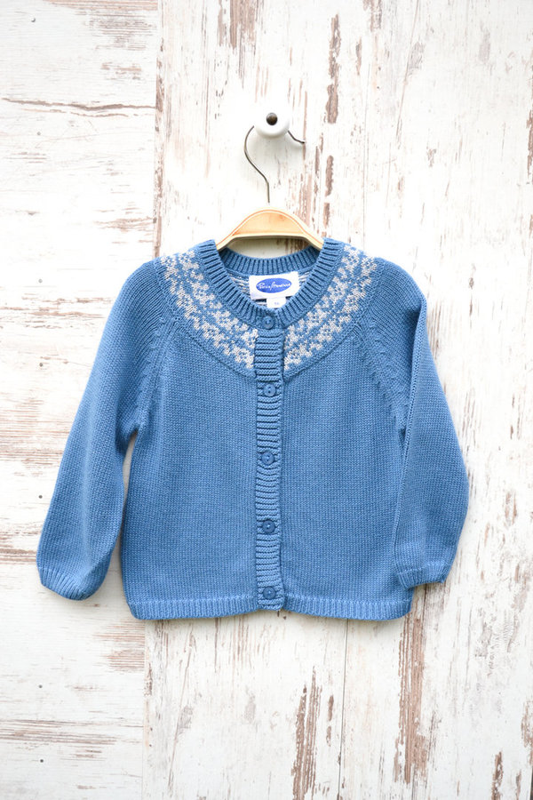 Norweger Strickjacke - Blau